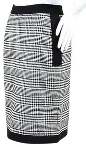 Lanvin White Wool Blend Skirt Black
