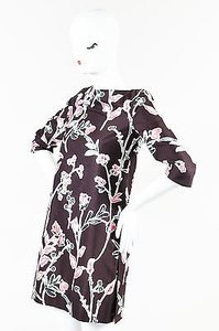 Marni short dress Pink Plum Floral Print on Tradesy