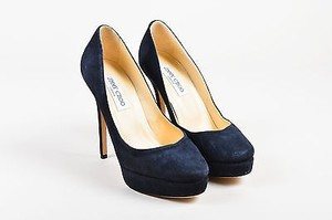 Jimmy Choo Navy Suede Blue Pumps