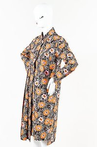 Marni short dress Multi-Color Brown Orange Multi Floral Print Long Sleeve Shirt on Tradesy
