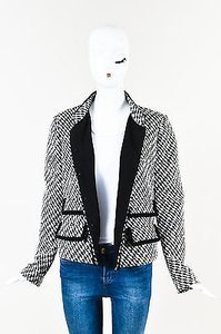 Giambattista Valli White Sequin Embellished Black Jacket