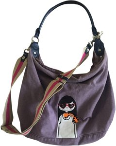 Marc by Marc Jacobs Canvas Leather Hobo Bag