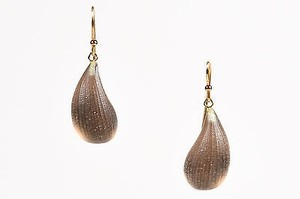 Alexis Bittar Alexis Bittar Clear Gold Tone Ridged Lucite Drop Hook Earrings