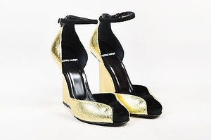 Pierre Hardy Metallic Gold Platforms