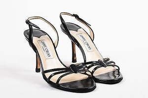Jimmy Choo Leather Cage Black Sandals
