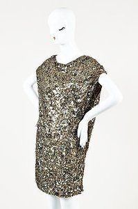 Vince short dress Multi-Color Taupe Antique Metallic on Tradesy