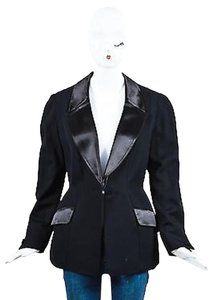 Thierry Mugler Vintage Thierry Mugler Black Wool Satin Trimmed Tuxedo Jacket
