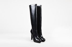 Brian Atwood Leather Black Boots