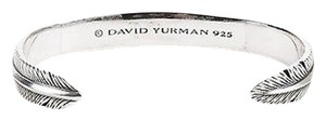 David Yurman Mens David Yurman Sterling Silver Frontier Feather Cuff Bracelet