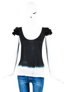 Givenchy Gray Plume Top Black