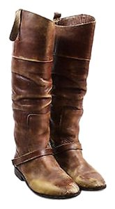 Golden Goose Deluxe Brand Distressed Brown Boots
