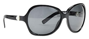 Chanel Chanel Black Faux Pearl Embellished Oversized Round Sunglasses