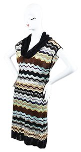 M Missoni short dress Multi-Color Black Wool on Tradesy