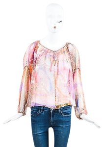 Haute Hippie Hippe Multicolor Sheer Top Multi-Color