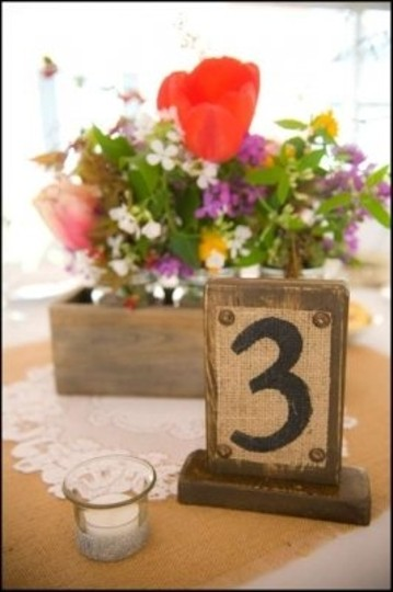 Brown Black and Burlap Twenty Table Numbers Other