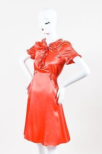 Marc Jacobs short dress Coral Silk Ruffle on Tradesy