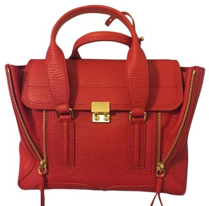 3.1 Phillip Lim Leather Classic Satchel in Red