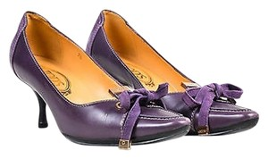 Tod's Tods Leather Ghw Purple Pumps