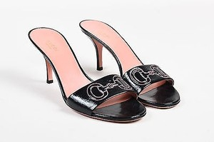 Gucci Patent Leather Black Sandals