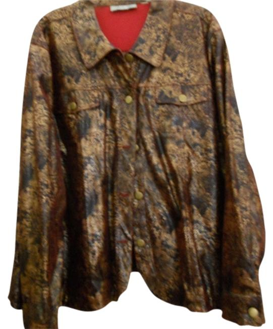 Other Gold/black/red Womens Jean Jacket