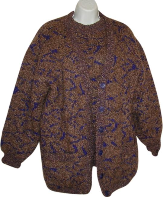 Item - Made In Italy Multi - Taupe with Purple Weave Sweater