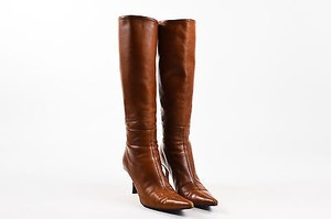 Gucci Cognac Leather 6b Brown Boots