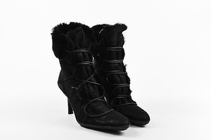 Gucci Leather Shearling Black Boots