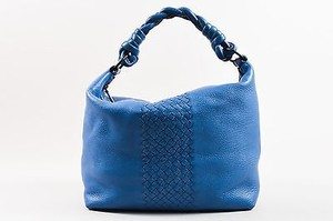 Bottega Veneta Leather Intrecciato Woven Accent Hobo Bag