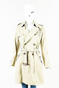 Ralph Lauren Khaki Stretch Double Breasted Trench Trench Coat