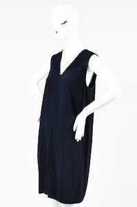 Vince short dress Blue Navy Satin Crepe on Tradesy