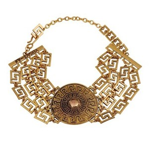 Versace for H&M VERSACE FOR H&M Collection,Gold Medallion Choker, Limted Edition