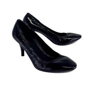 Prada Black Elastic Patent Leather Pumps