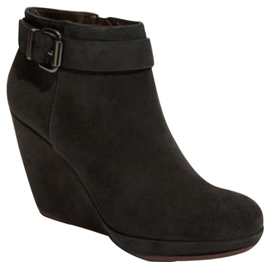 Geox Suede Leather Black Boots