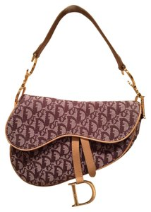 Dior Vintage Monogram Chocolate Brown Christian Baguette