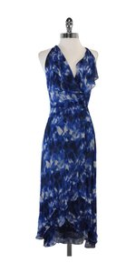 Robert Rodriguez Blue White Black Halter Dress