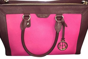 Henri Bendel Satchel in Plum & Pink
