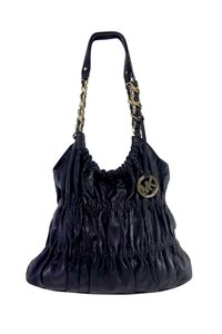 Michael Kors Black Ruched Soft Leather Hobo Bag