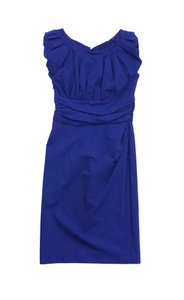 Diane von Furstenberg short dress Blue Puffed Sleeve Bodycon on Tradesy