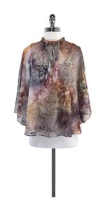 Ted Baker Brown Multi Color Watercolor Top