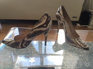 Monique Lhuillier Stamped Python Pumps