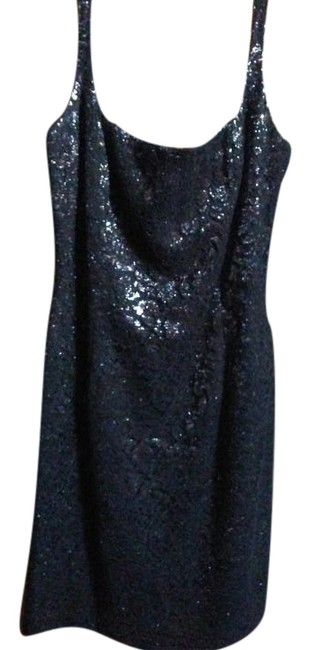 Item - Black with Brown Lace Sparkly Above Knee Night Out Dress Size 10 (M)