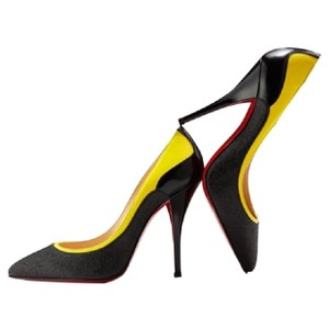 Christian Louboutin Black/yellow Pumps