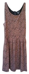 Anthropologie short dress brown Print Sleeveless on Tradesy
