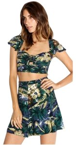 Reformation short dress Tropical Crop Top Skirt Set Two Piece on Tradesy