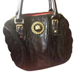 Juicy Couture Leather Purse Satchel in Black