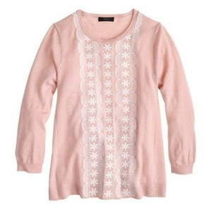 J.Crew Knit Embroidered 3/4 Sleeve Sweater
