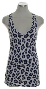 J.Crew Stretch Knit Animal Print Sleeveless Top Blue