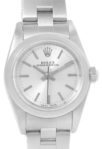 Rolex Rolex Oyster Perpetual Nondate Ladies Silver Dial Watch 76080