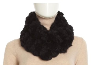 Adrienne Landau Rabbit Fur Pom Pom Neck Warmer