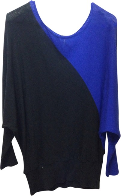 Preload https://item5.tradesy.com/images/maurices-black-and-blue-modern-slouchy-blouse-size-6-s-1952814-0-0.jpg?width=400&height=650